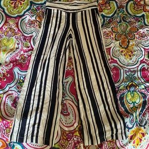 Navy and White Palazzo Pants Size 10